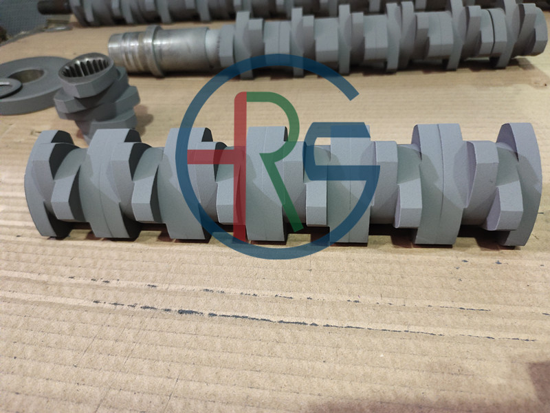 螺旋轴碳化钨耐磨熔射加工