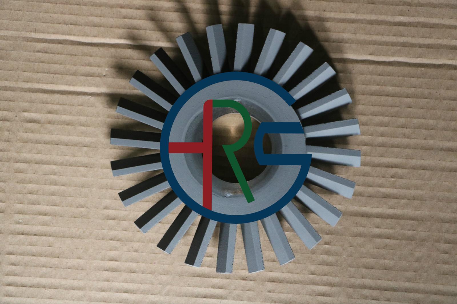 不锈钢风轮喷涂耐磨碳化钨涂层