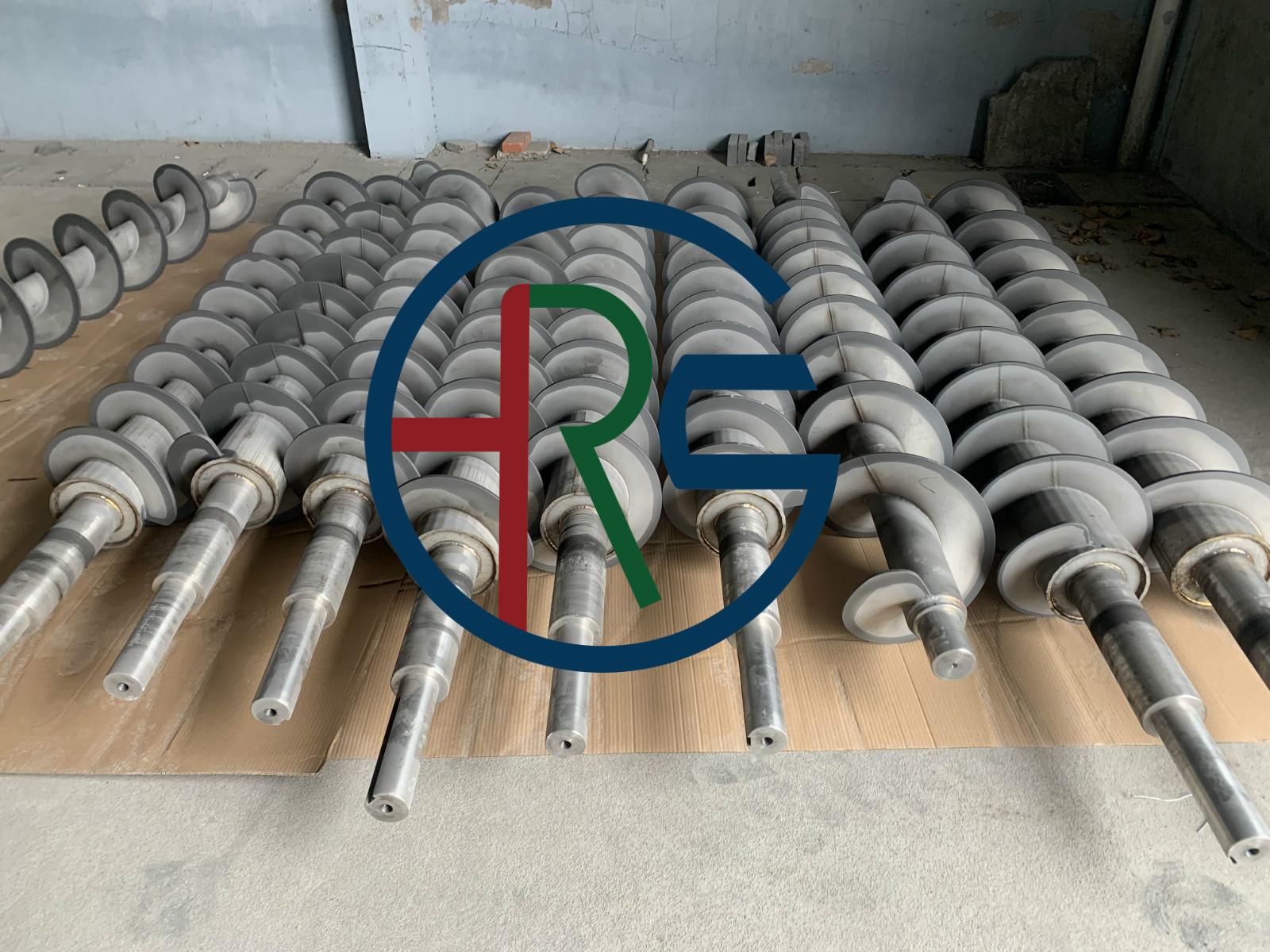 扬州叠螺机螺旋轴绞龙喷涂碳化钨硬质合金
